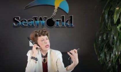 Lily Tomlin's 'Ernestine' Answers Complaint Calls at 'SeaWorld'